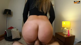 MUST WATCH!! PAWG REVERSE COWGIRL RIDING